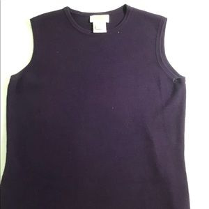 Talbots Sleeveless Knit Top Shirt Shell Purple